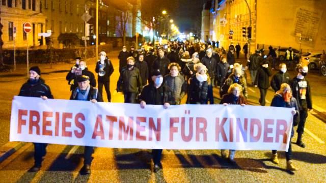 Montagsdemo in Oranienburg am 04.01.2021